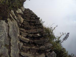 Ascension escalier Montana Picchu Perou